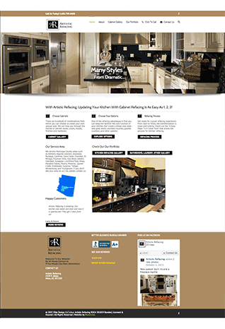 artistic refacing new site